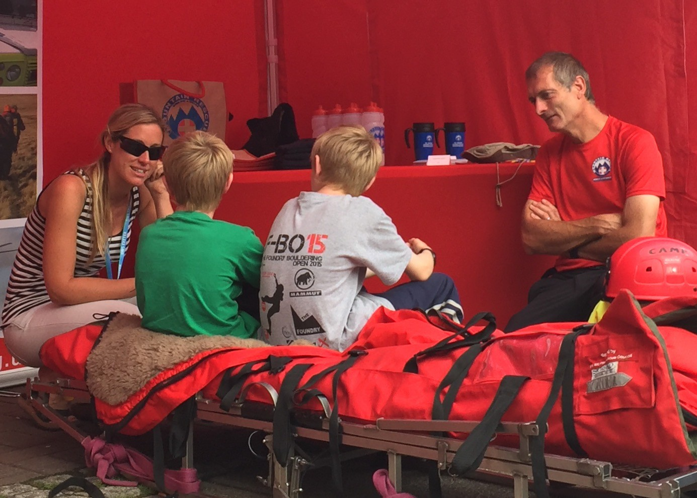 gallerytyu_Team members Nat and Tim inspiring our young fans at the Deep Water Solo competition in Exeter